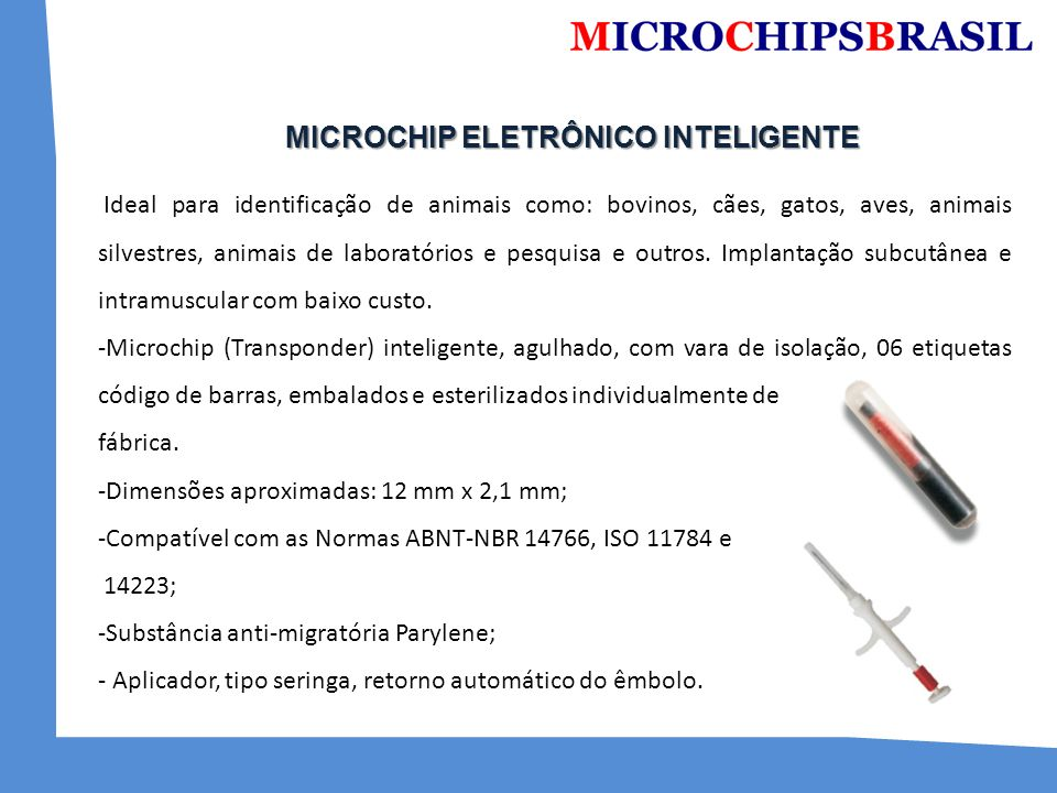 MICROCHIP ELETRÔNICO INTELIGENTE
