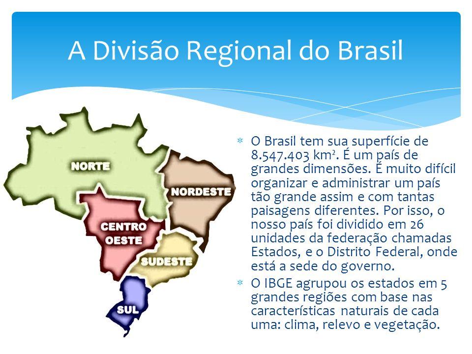A Divisão Regional do Brasil