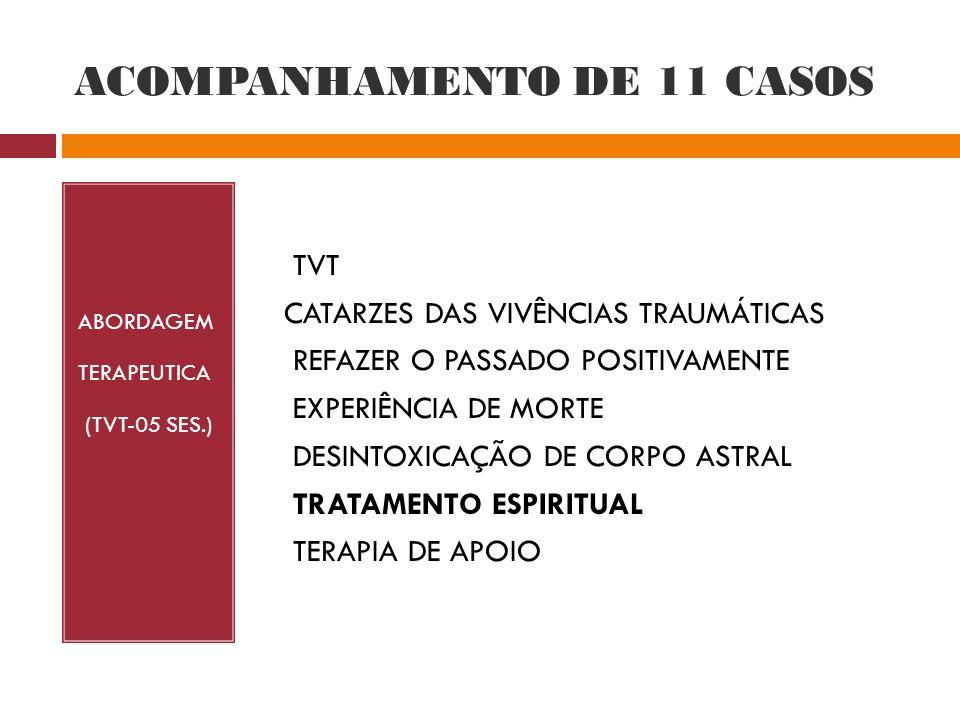 ACOMPANHAMENTO DE 11 CASOS