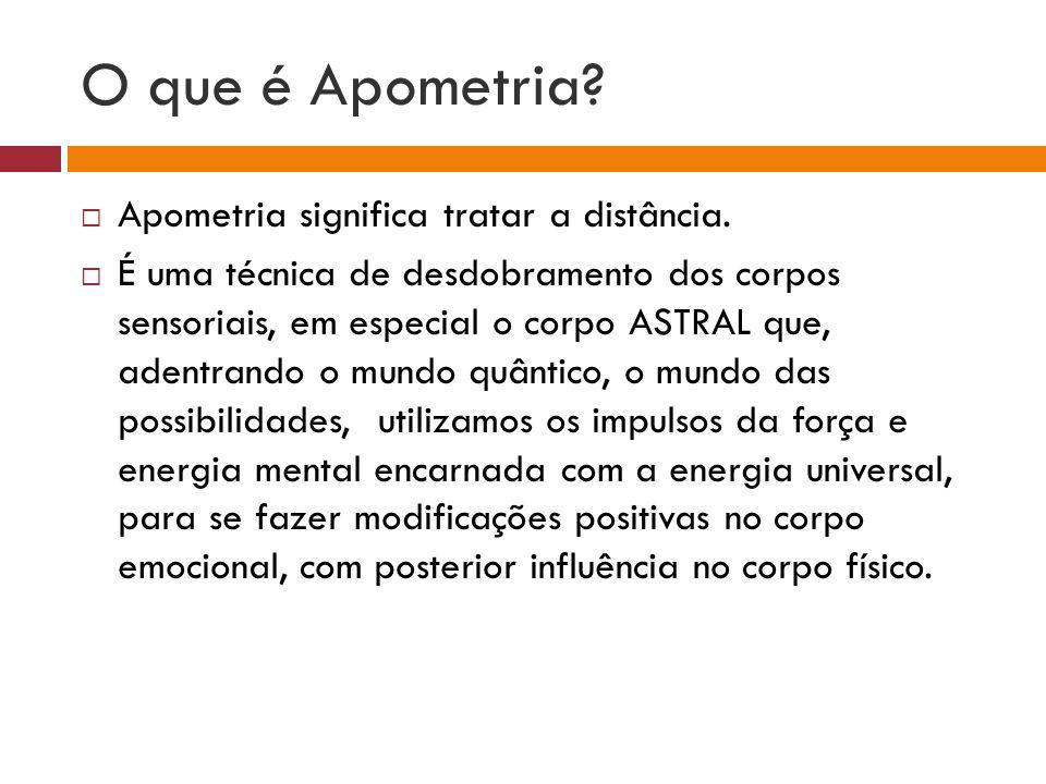 O que é Apometria Apometria significa tratar a distância.