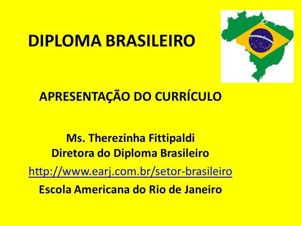 APRESENTAÇÃO DO CURRÍCULO Escola Americana do Rio de Janeiro