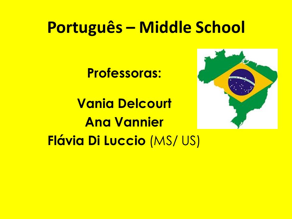 Português – Middle School