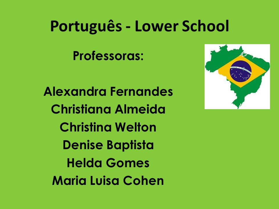 Português - Lower School