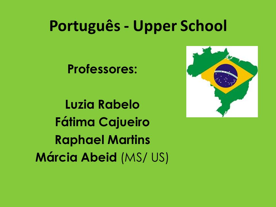 Português - Upper School