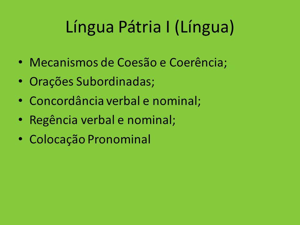 Língua Pátria I (Língua)