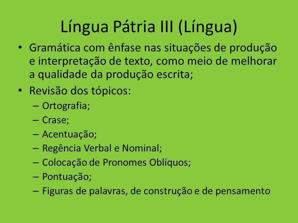 Língua Pátria III (Língua)