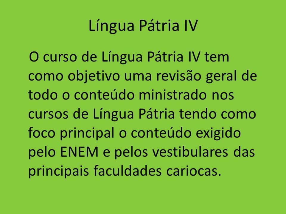 Língua Pátria IV