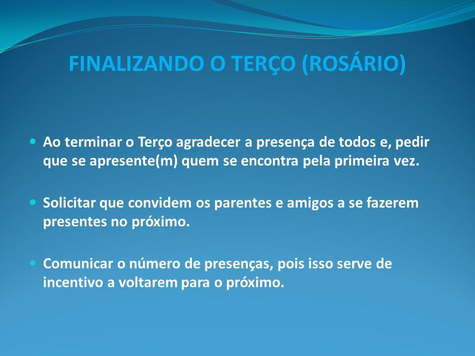 FINALIZANDO O TERÇO (ROSÁRIO)