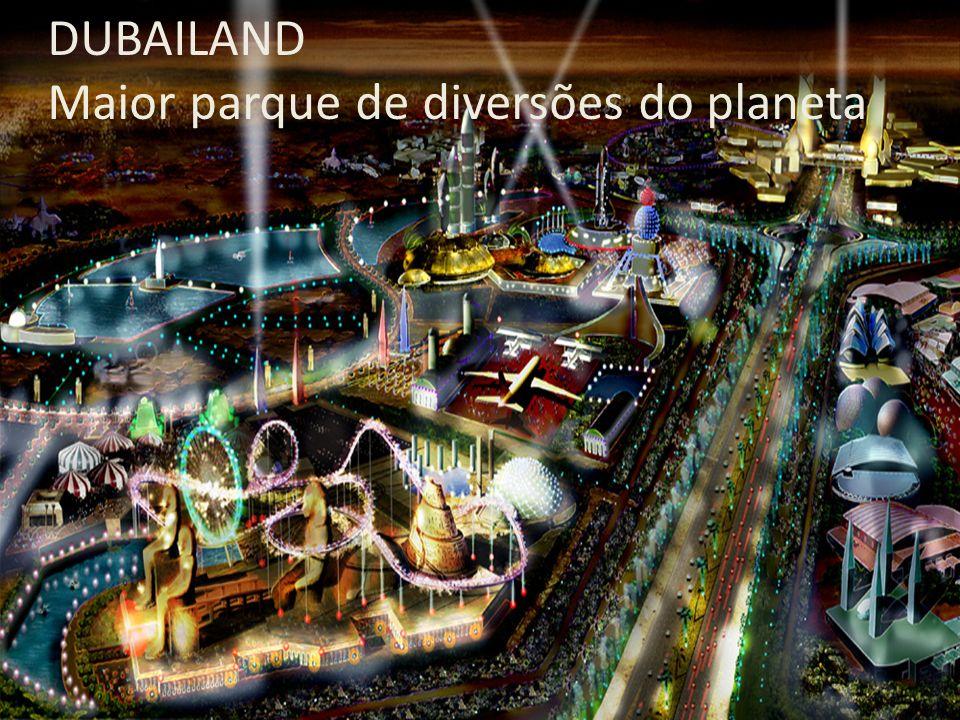DUBAILAND Maior parque de diversões do planeta