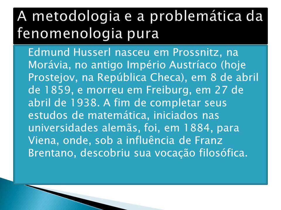 A metodologia e a problemática da fenomenologia pura