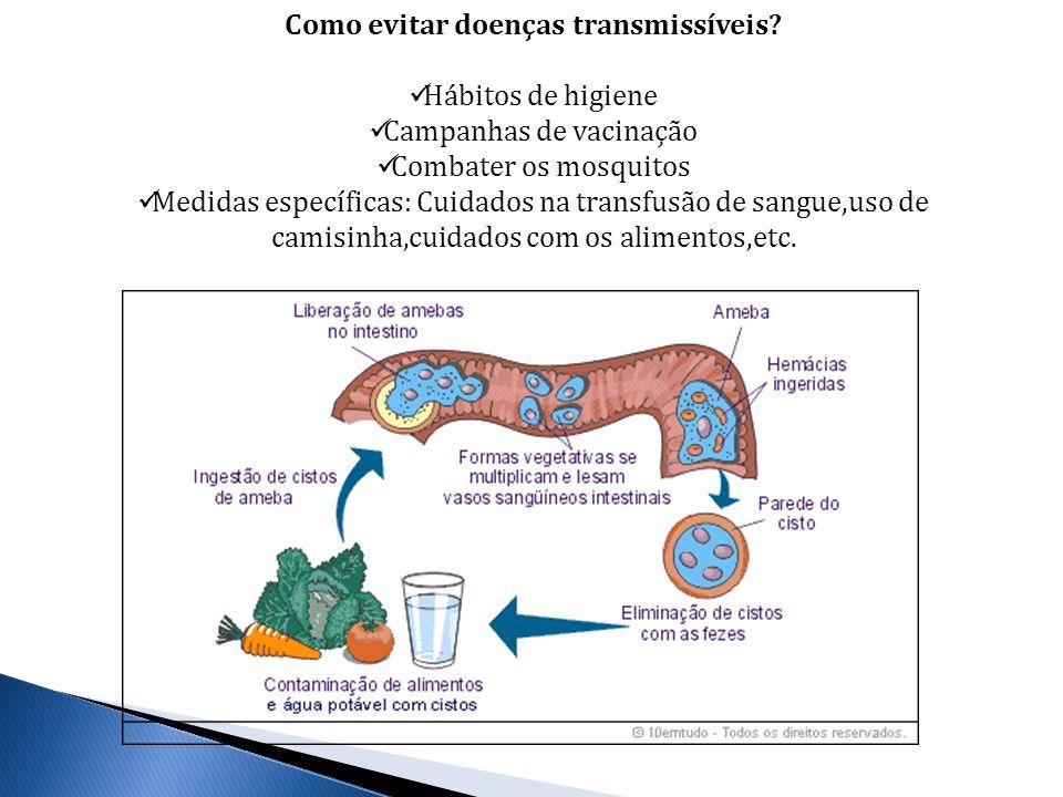 Como evitar doenças transmissíveis