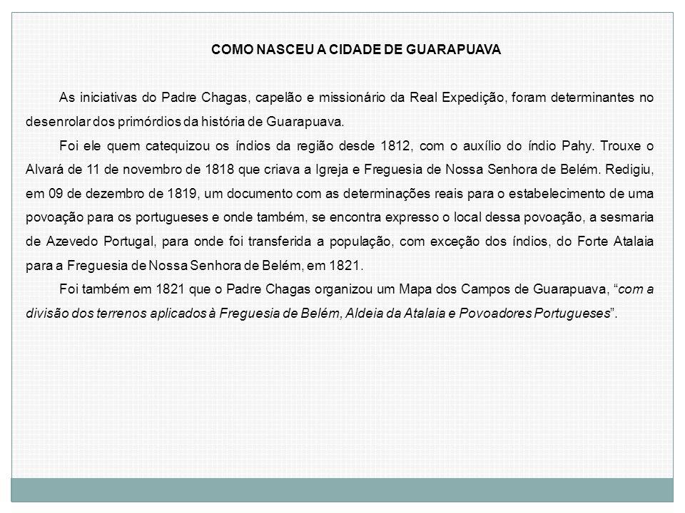 COMO NASCEU A CIDADE DE GUARAPUAVA