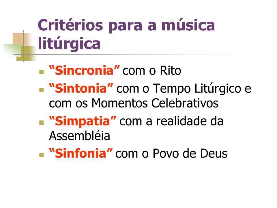 Critérios para a música litúrgica