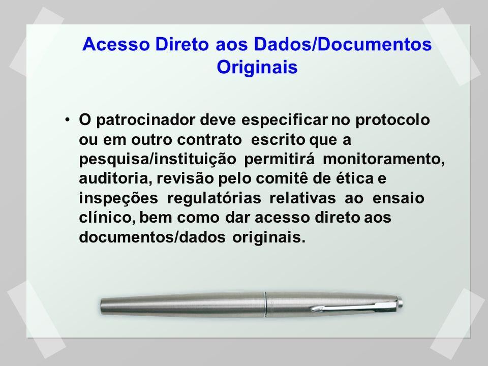 Acesso Direto aos Dados/Documentos Originais