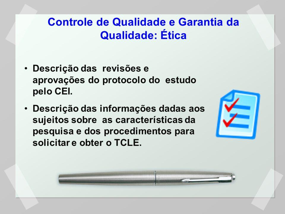 Controle de Qualidade e Garantia da Qualidade: Ética