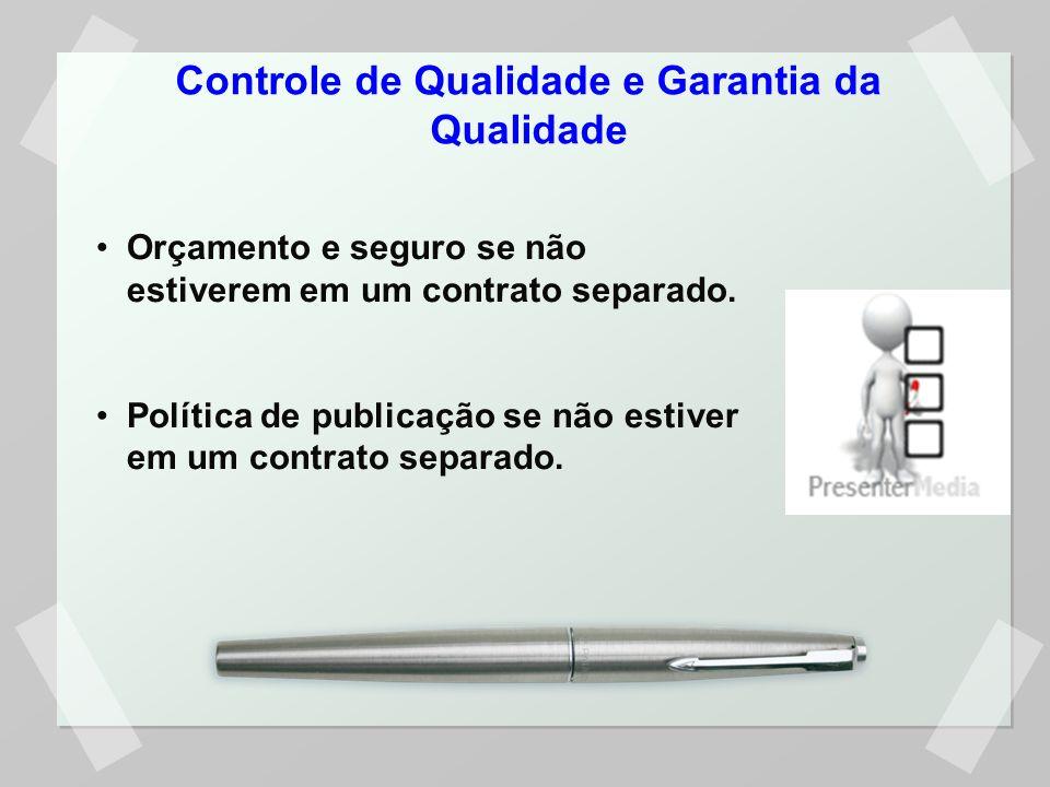 Controle de Qualidade e Garantia da Qualidade