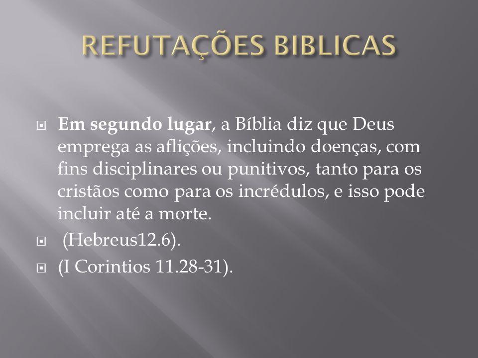 REFUTAÇÕES BIBLICAS