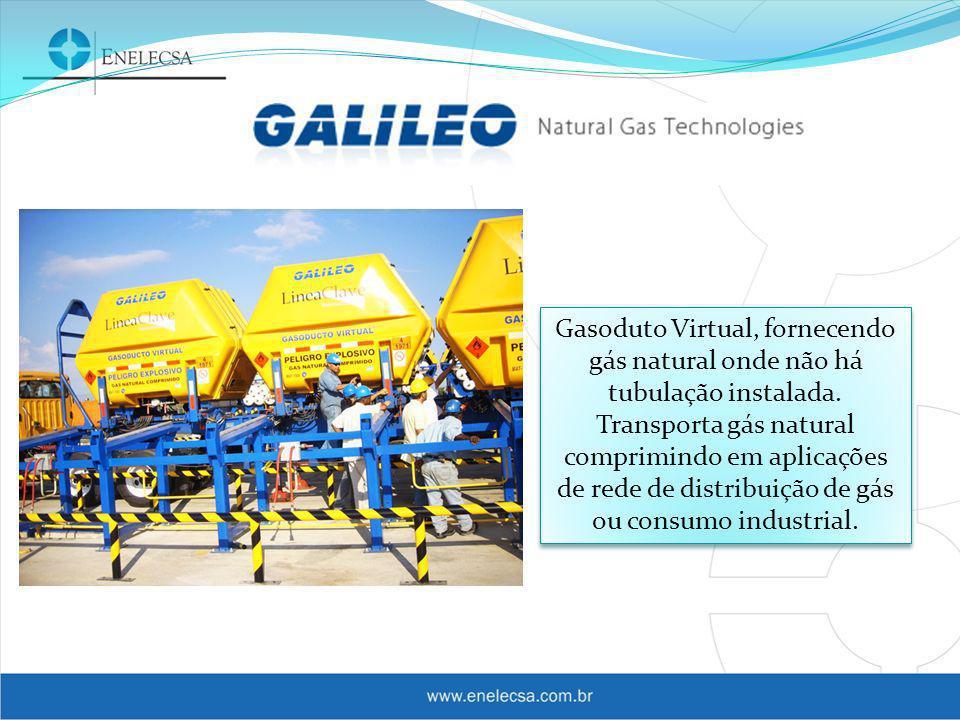 Gasoduto Virtual, fornecendo gás natural onde não há tubulação instalada.