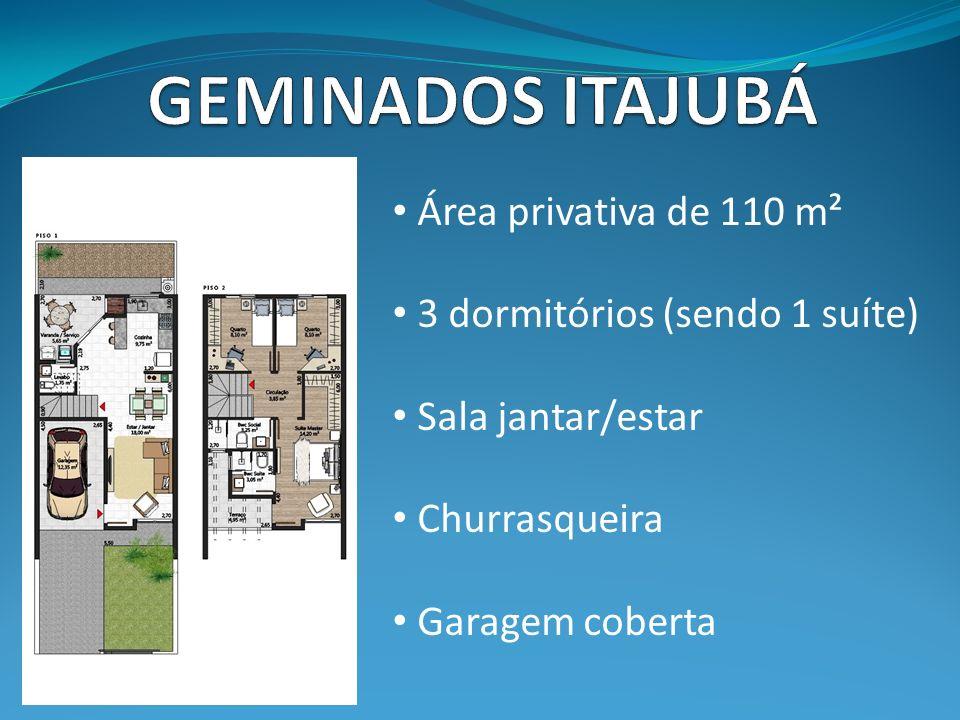 GEMINADOS ITAJUBÁ Área privativa de 110 m²