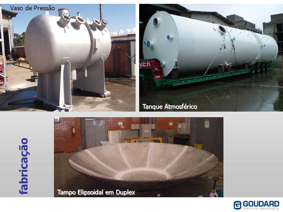 fabricação Vaso de Pressão Tanque Atmosférico