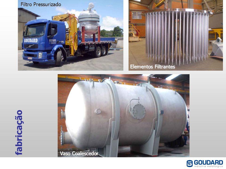 Filtro Pressurizado Elementos Filtrantes fabricação Vaso Coalescedor