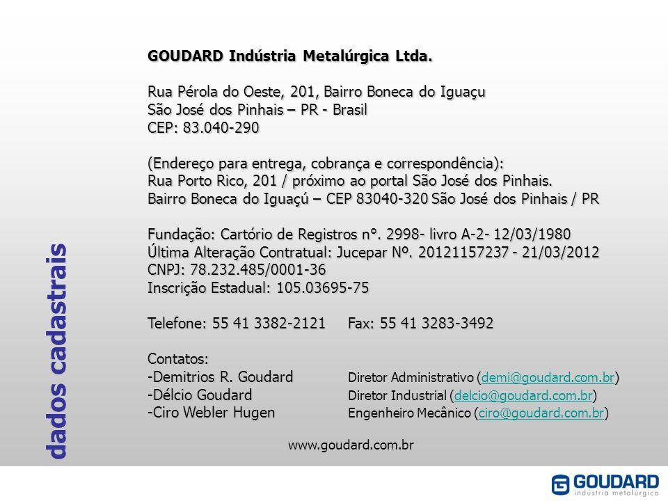 dados cadastrais GOUDARD Indústria Metalúrgica Ltda.
