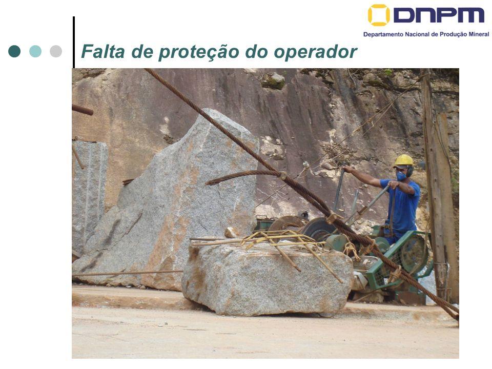Falta de proteção do operador