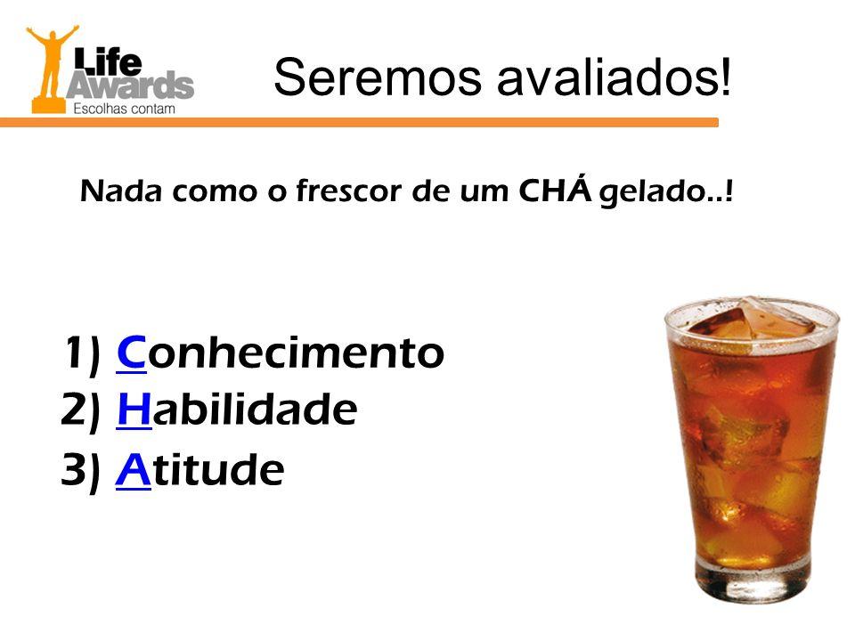 Seremos avaliados! 1) Conhecimento 2) Habilidade 3) Atitude