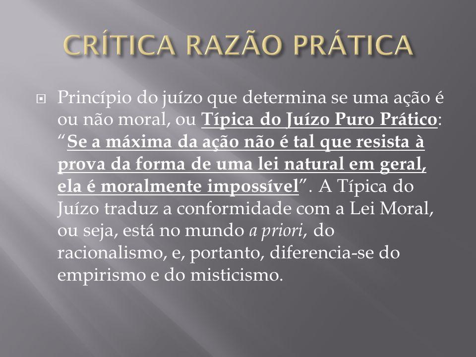 CRÍTICA RAZÃO PRÁTICA
