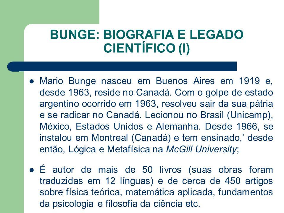 BUNGE: BIOGRAFIA E LEGADO CIENTÍFICO (I)