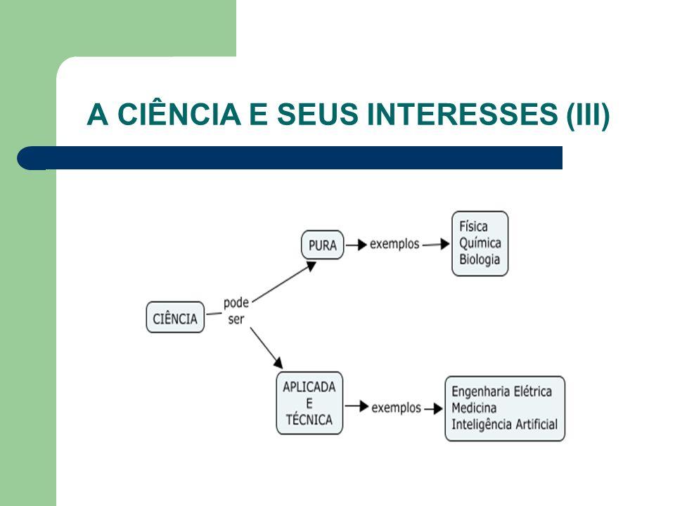 A CIÊNCIA E SEUS INTERESSES (III)