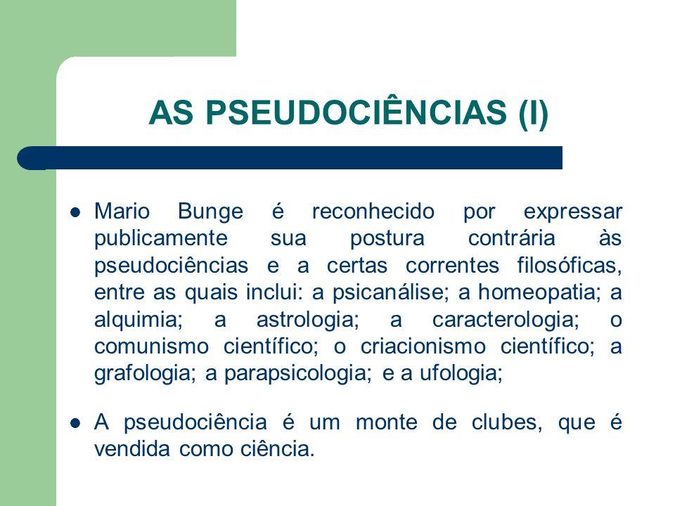 AS PSEUDOCIÊNCIAS (I)