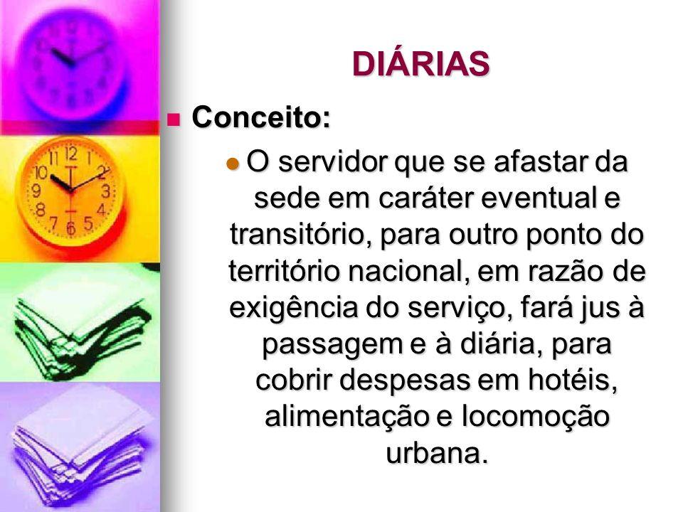 DIÁRIAS Conceito: