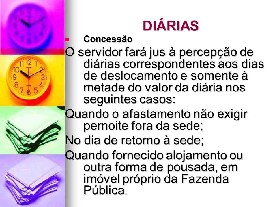 DIÁRIAS Concessão.
