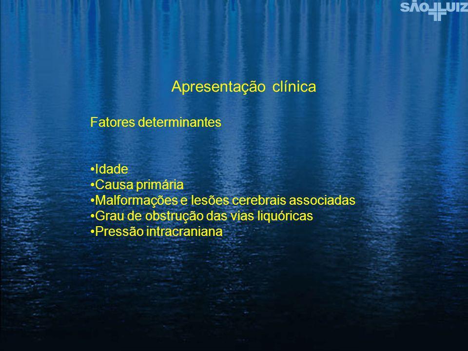 Apresentação clínica Fatores determinantes Idade Causa primária