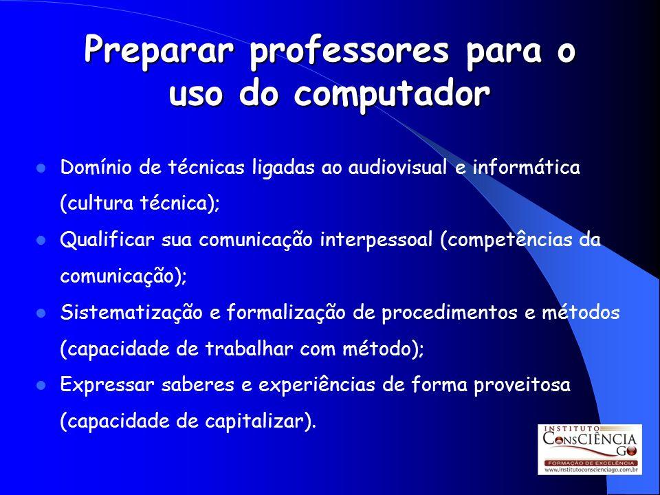 Preparar professores para o uso do computador