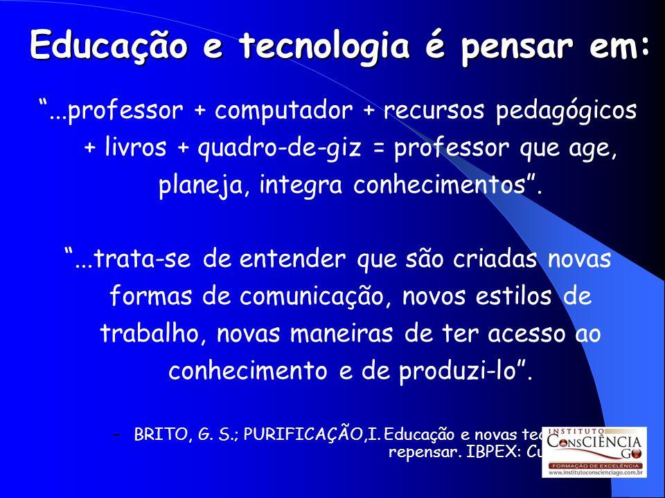 Educação e tecnologia é pensar em: