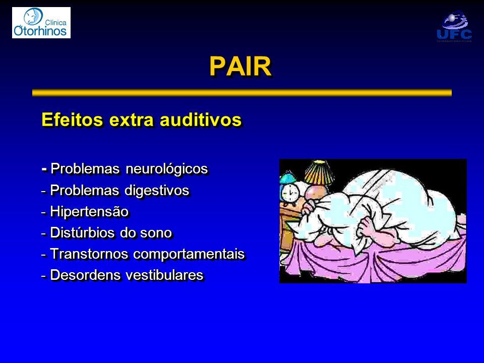 PAIR Efeitos extra auditivos - Problemas neurológicos