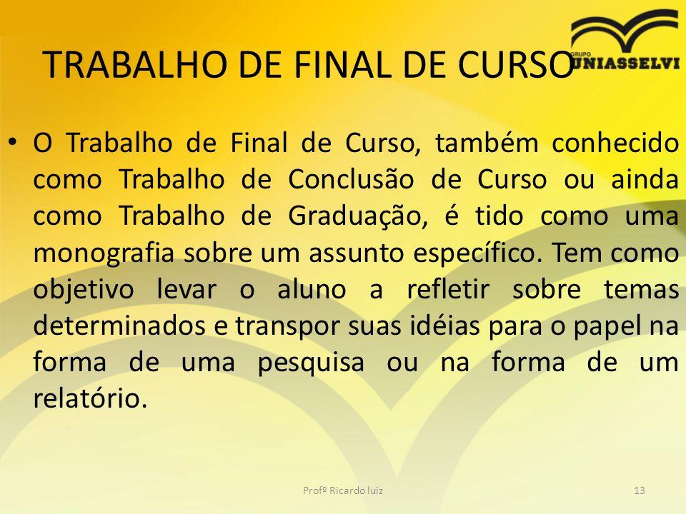 TRABALHO DE FINAL DE CURSO