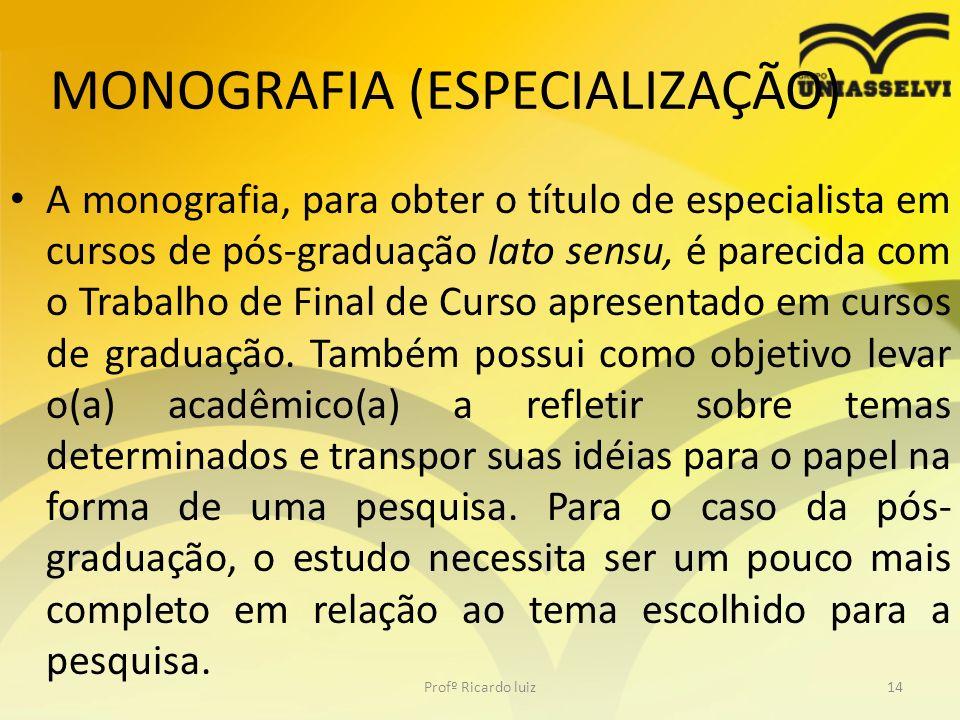 MONOGRAFIA (ESPECIALIZAÇÃO)