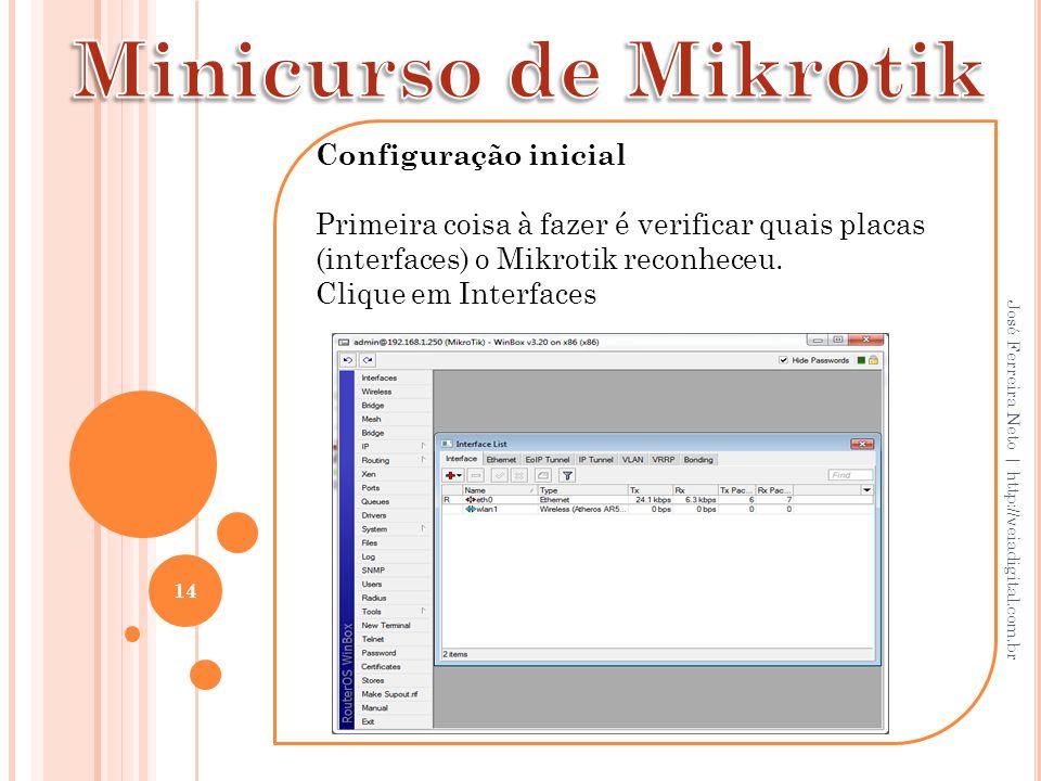 Minicurso de Mikrotik Configuração inicial