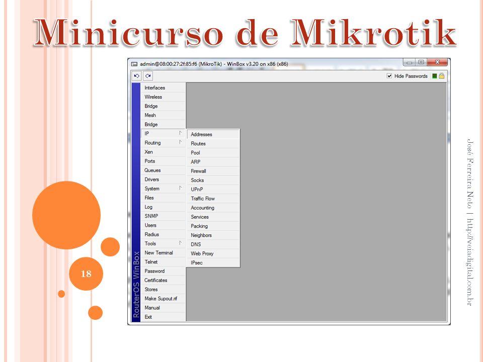 Minicurso de Mikrotik José Ferreira Neto | http://veiadigital.com.br