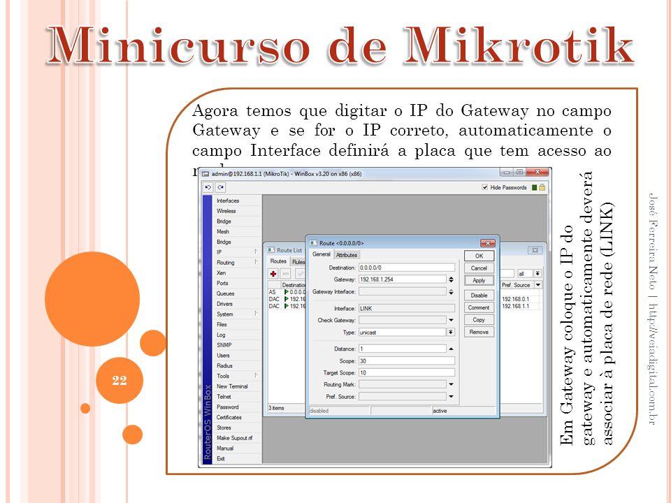 Minicurso de Mikrotik