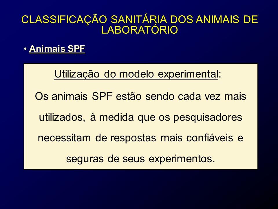 CLASSIFICAÇÃO SANITÁRIA DOS ANIMAIS DE LABORATÓRIO