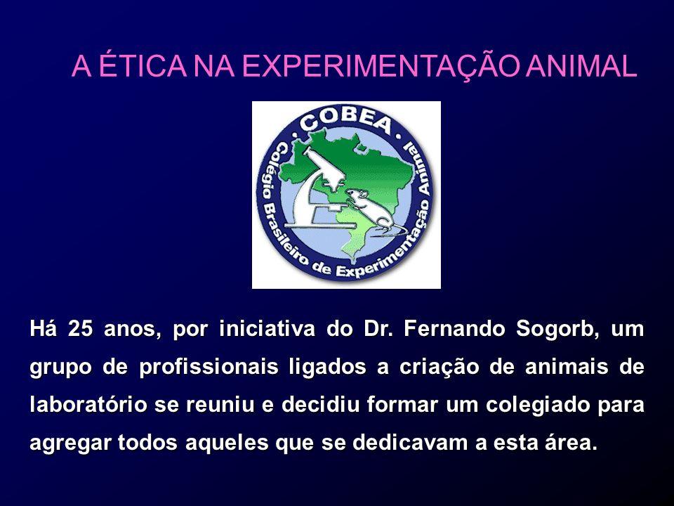 A ÉTICA NA EXPERIMENTAÇÃO ANIMAL