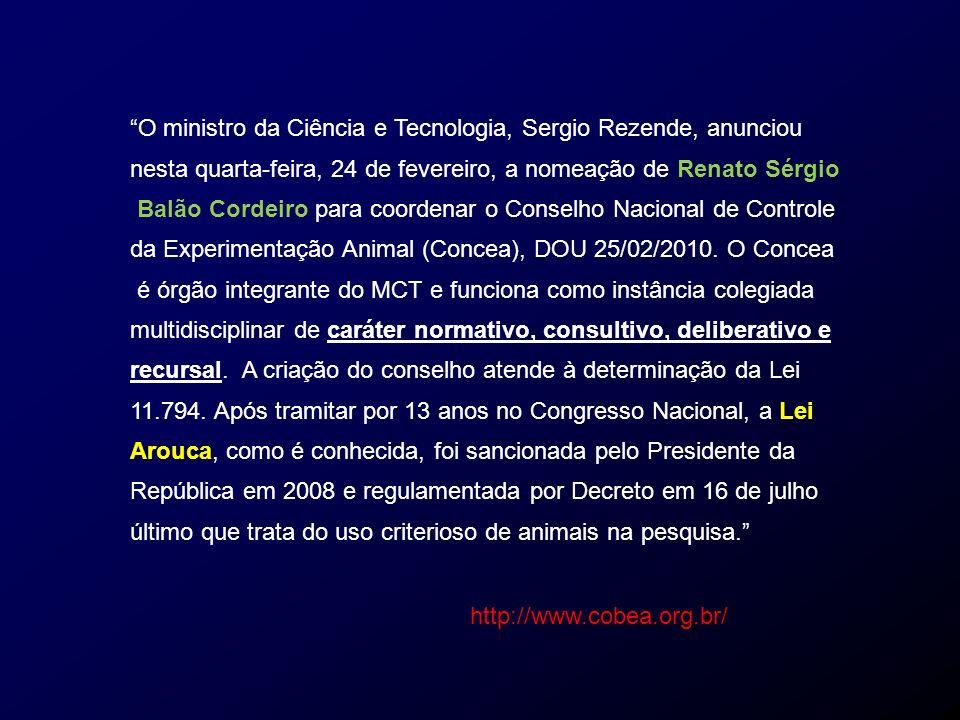 O ministro da Ciência e Tecnologia, Sergio Rezende, anunciou