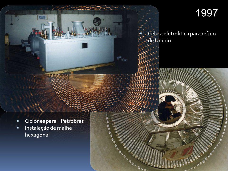 1997 Célula eletrolitica para refino de Uranio Ciclones para Petrobras
