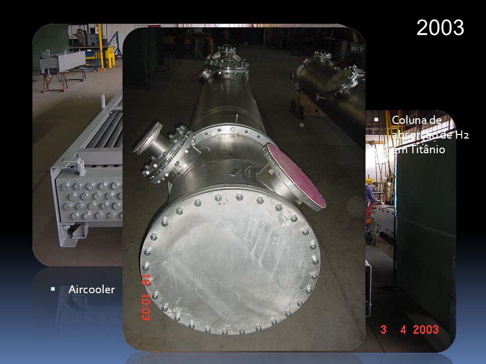 2003 Coluna de absorção de H2 em Titânio Aircooler