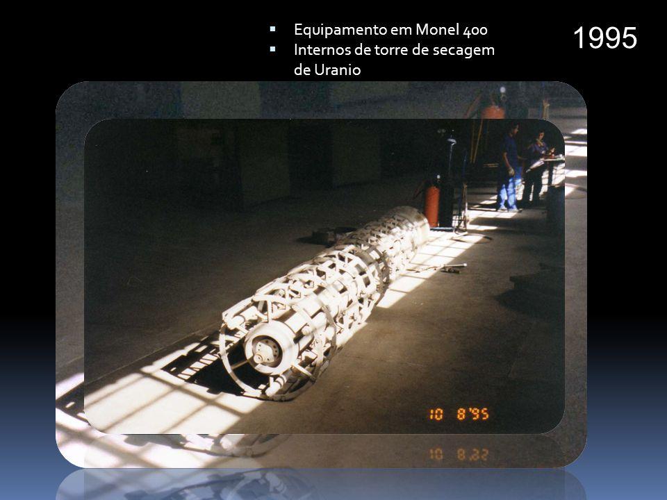 Equipamento em Monel 400 Internos de torre de secagem de Uranio 1995