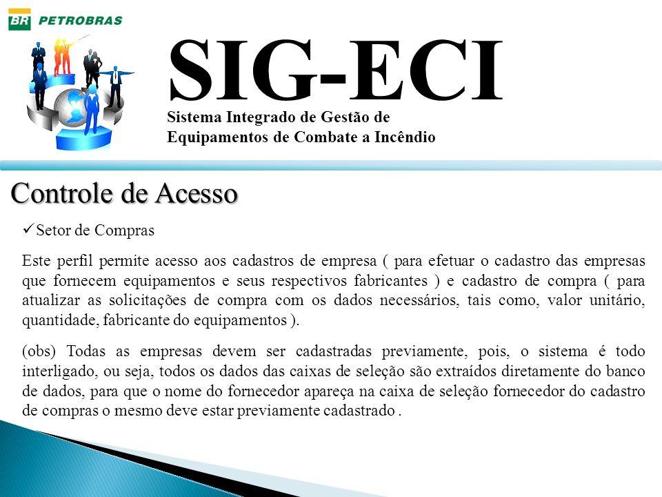SIG-ECI Controle de Acesso Sistema Integrado de Gestão de